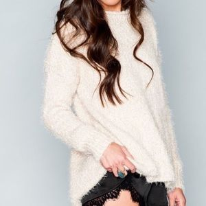 Mumu Mellon Snow globe Sparkle Chunky Sweater